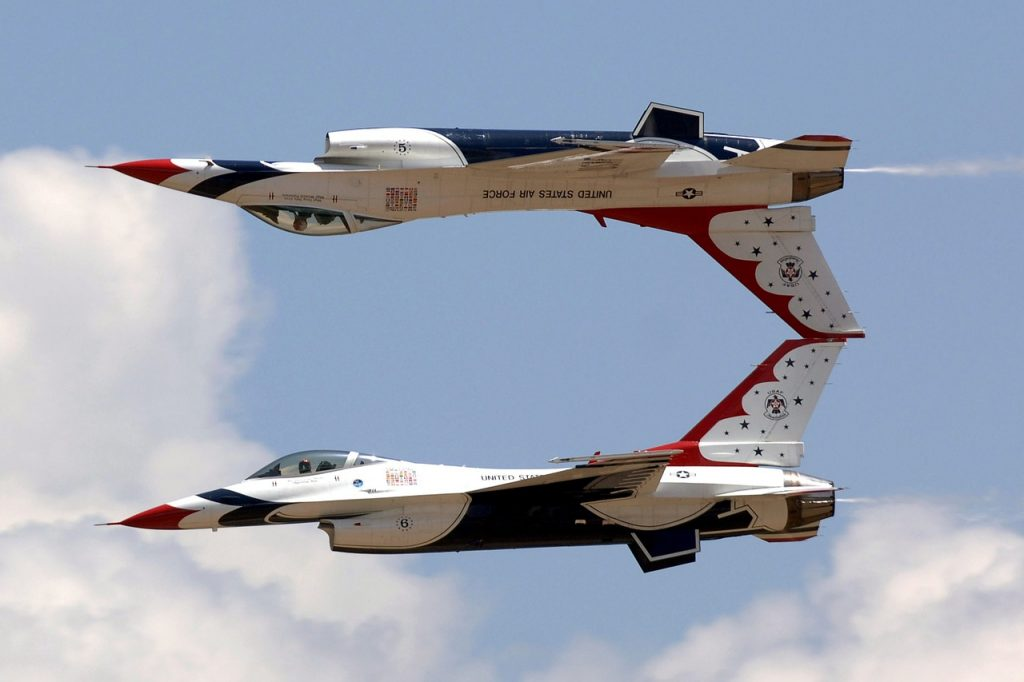 jets, air show, aerial demonstration